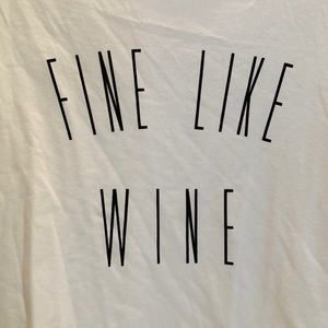 New LIVI ACTIVE white tank Fine Like Wine  SIZE 20